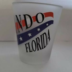 """Other - Shot Glass Frosted ORLANDO FLORIDA 3"""" Shot Glass"""